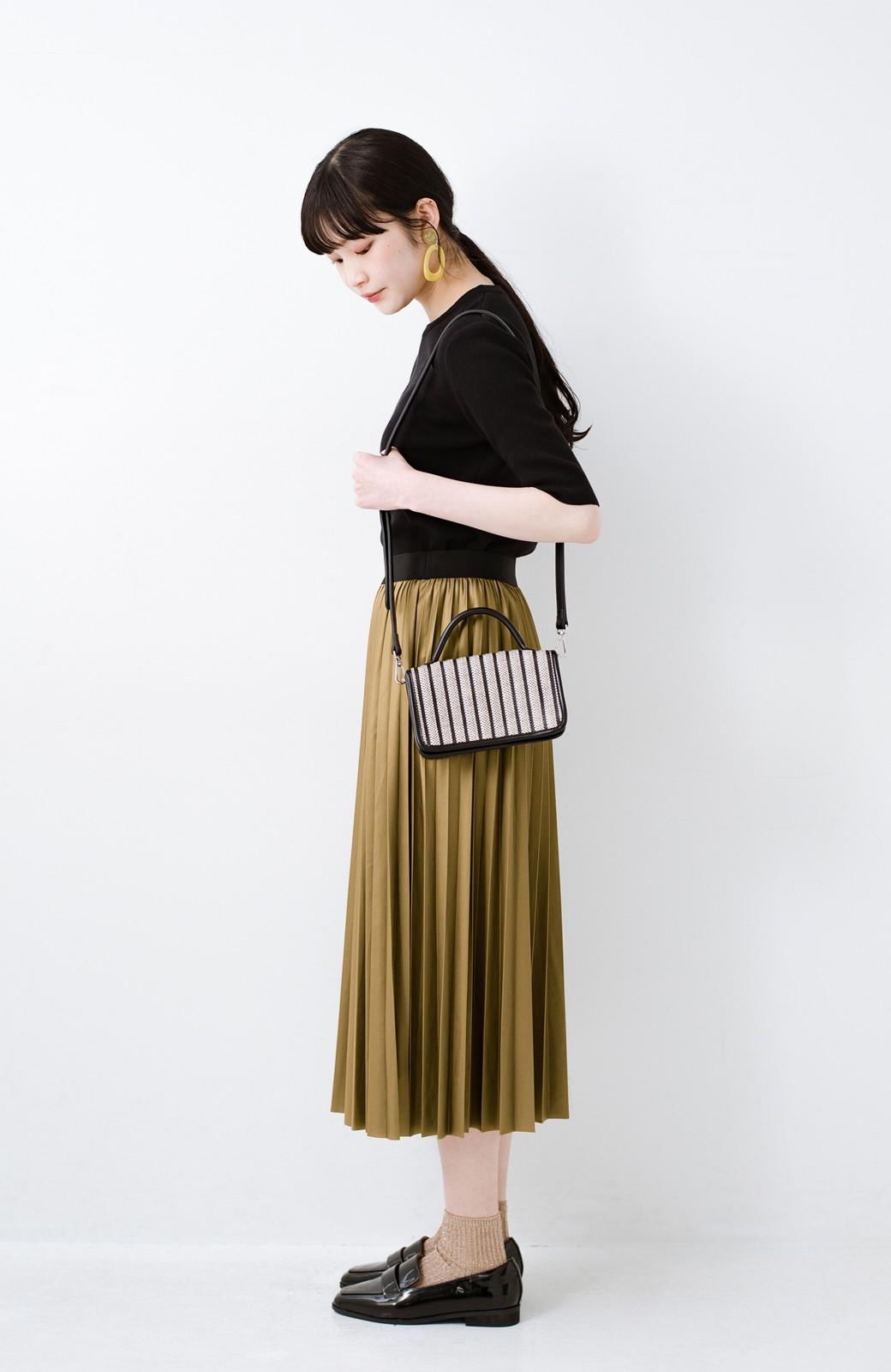haco! コーデが一気に引き締まるフェイクレザー風プリーツスカート by laulea  <マスタード>の商品写真12