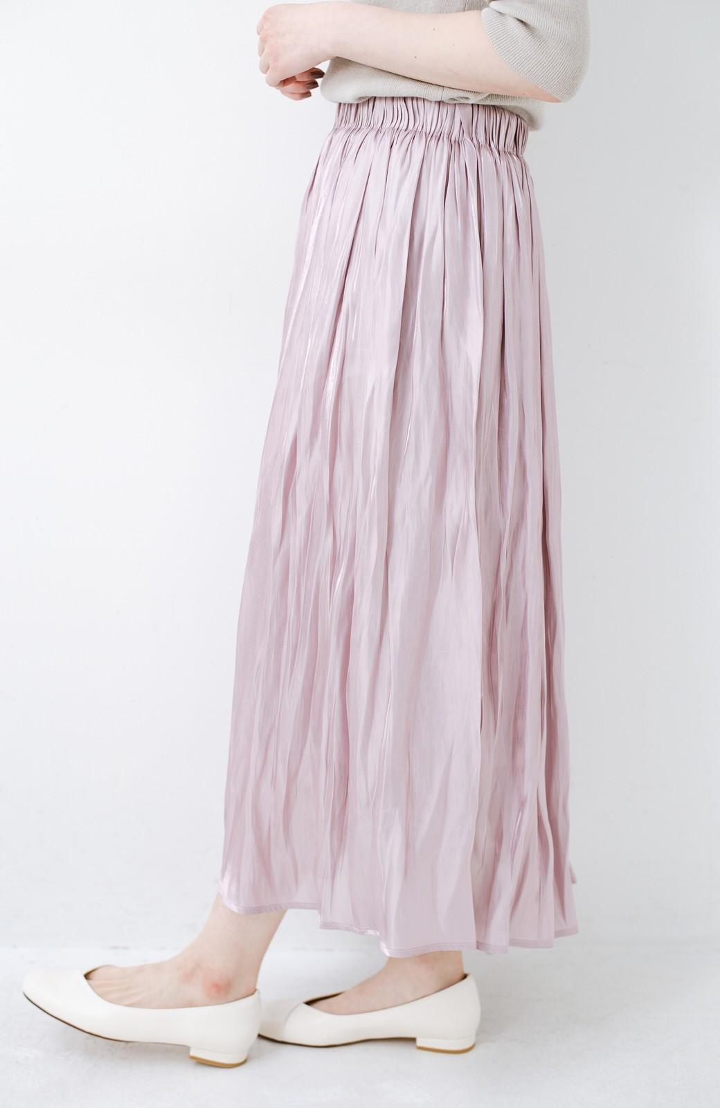 haco! 1枚でも重ね着にも便利なキラキラ素材がかわいいロングスカート by laulea <スモークピンク>の商品写真3