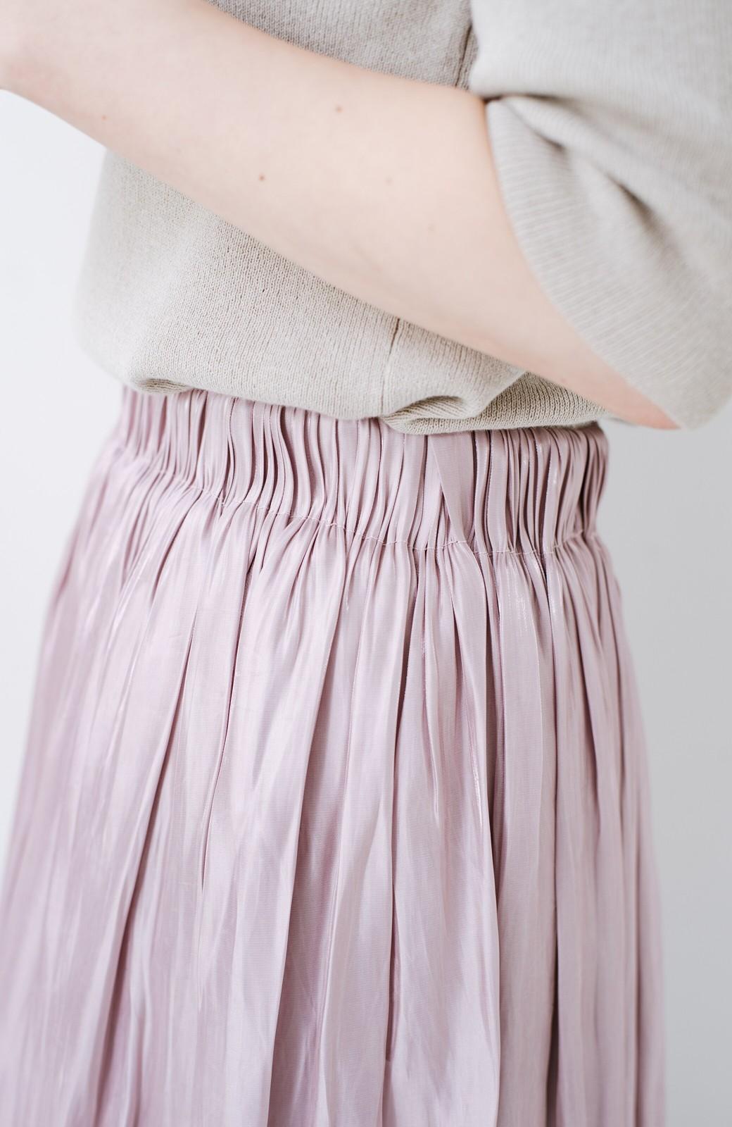 haco! 1枚でも重ね着にも便利なキラキラ素材がかわいいロングスカート by laulea <スモークピンク>の商品写真5