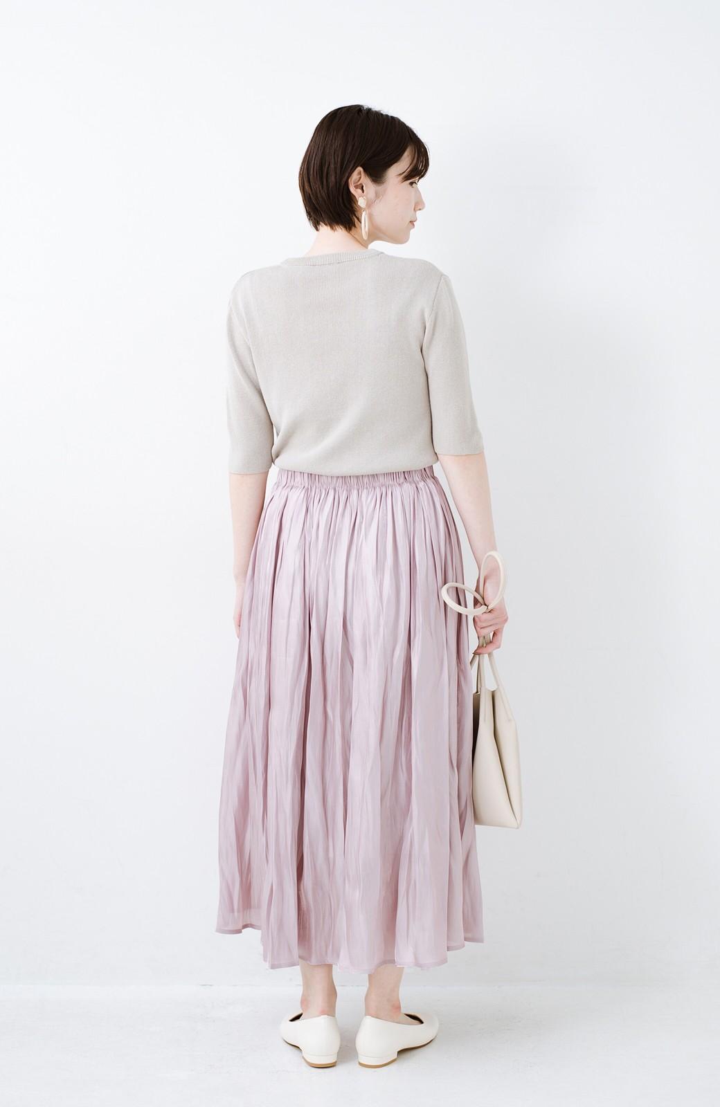 haco! 1枚でも重ね着にも便利なキラキラ素材がかわいいロングスカート by laulea <スモークピンク>の商品写真10