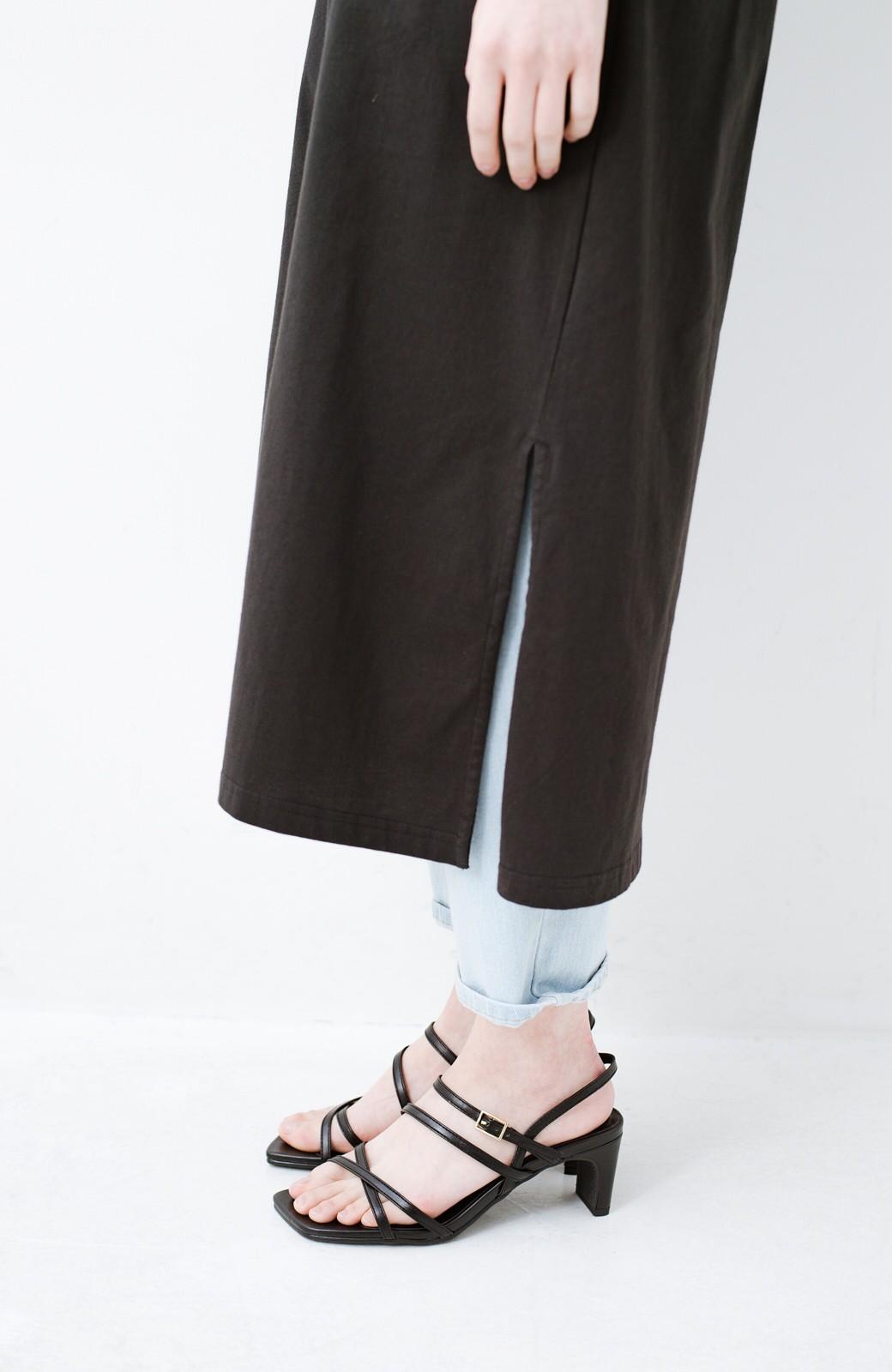 haco! 玄関でこれを履くだけでコーデが女っぽく&今っぽくまとまる 華奢な紐のヒールサンダル <ブラック>の商品写真7
