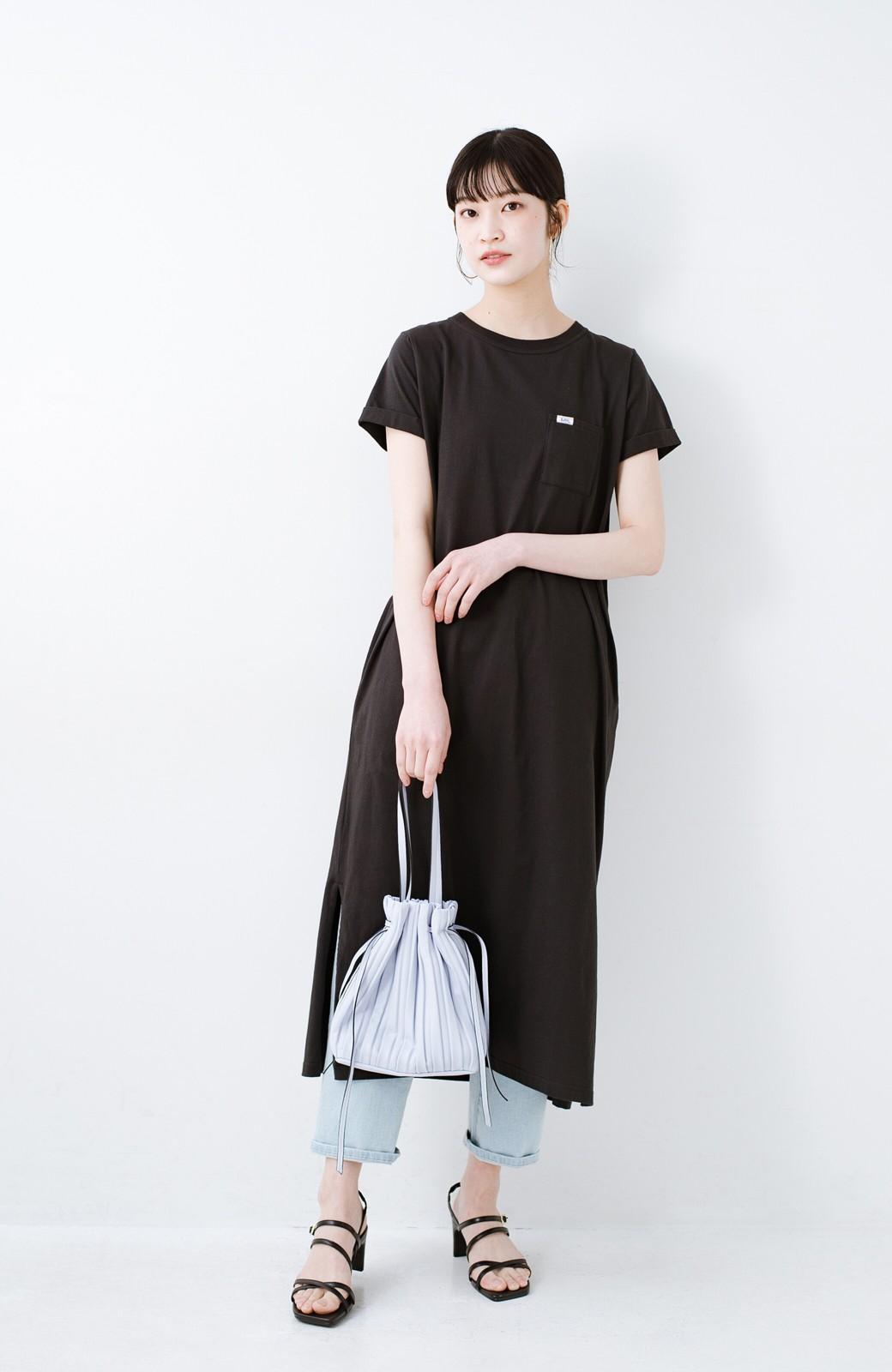 haco! 玄関でこれを履くだけでコーデが女っぽく&今っぽくまとまる 華奢な紐のヒールサンダル <ブラック>の商品写真11