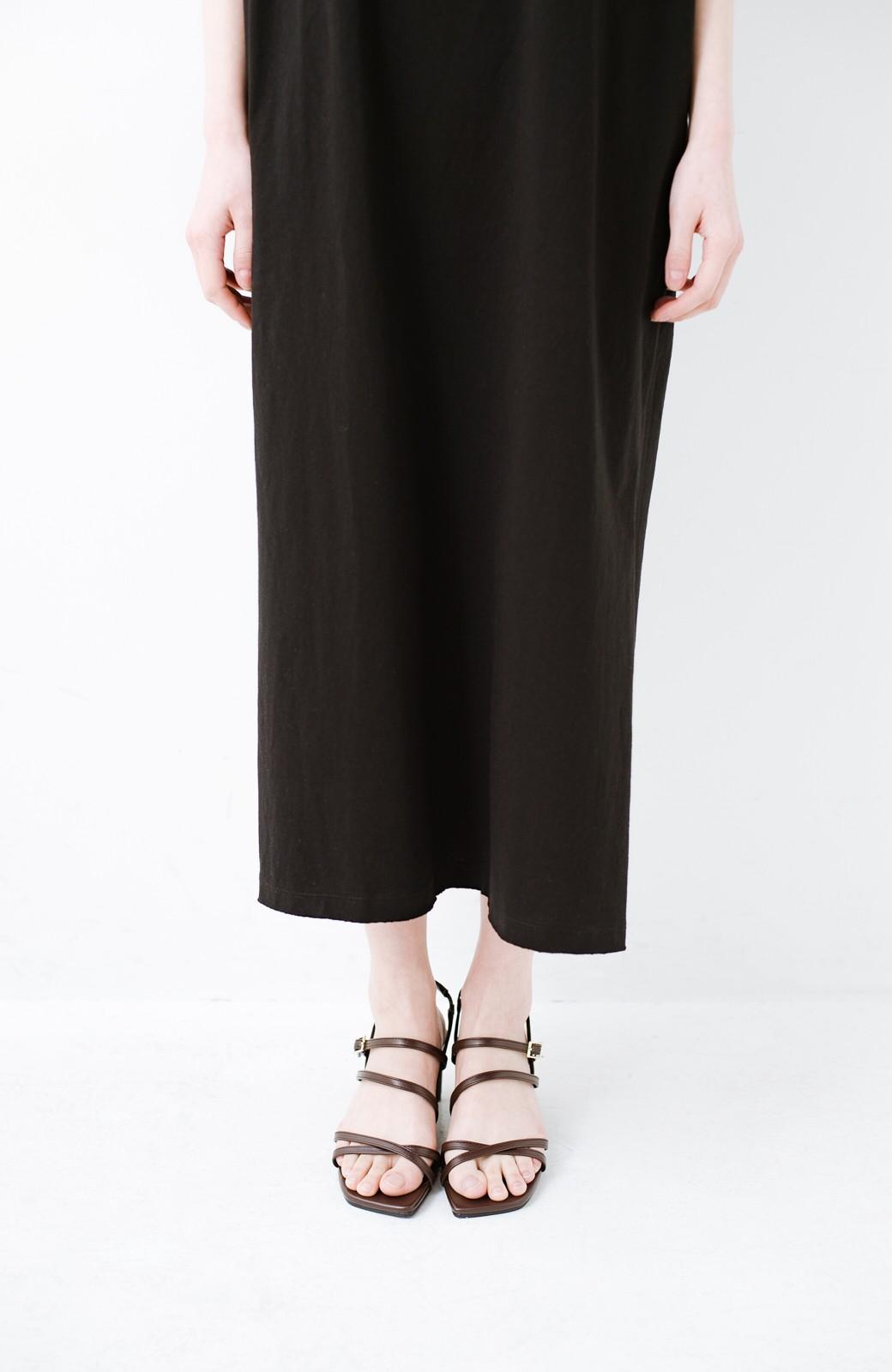 haco! 玄関でこれを履くだけでコーデが女っぽく&今っぽくまとまる 華奢な紐のヒールサンダル <ブラウン>の商品写真5