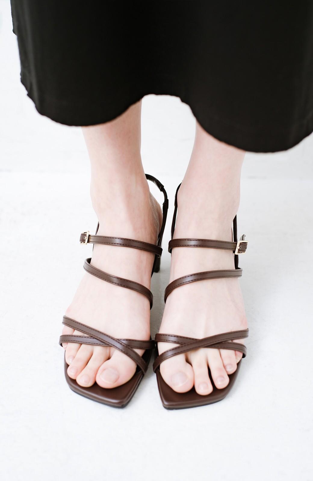 haco! 玄関でこれを履くだけでコーデが女っぽく&今っぽくまとまる 華奢な紐のヒールサンダル <ブラウン>の商品写真7