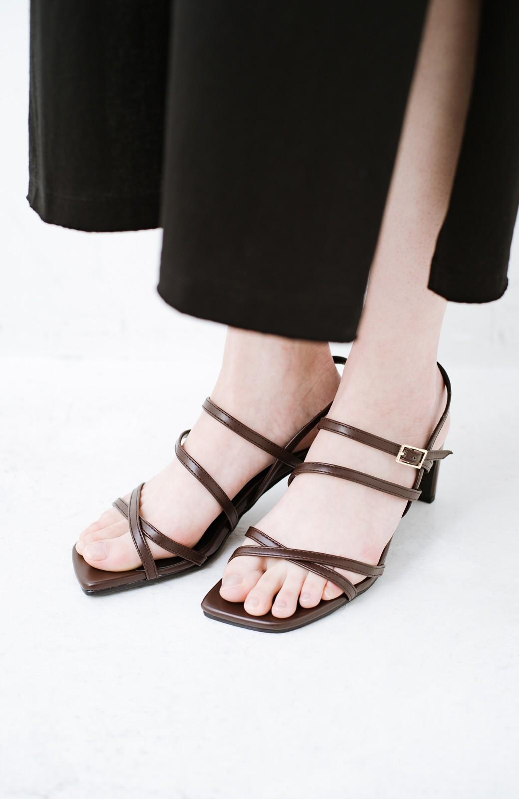 haco! 玄関でこれを履くだけでコーデが女っぽく&今っぽくまとまる 華奢な紐のヒールサンダル <ブラウン>の商品写真8