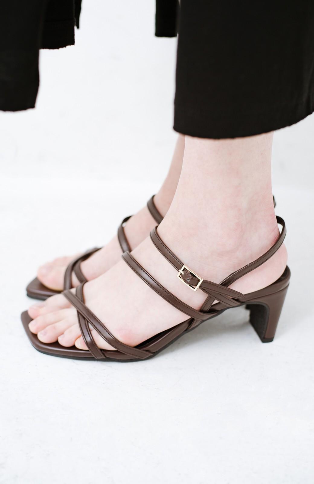 haco! 玄関でこれを履くだけでコーデが女っぽく&今っぽくまとまる 華奢な紐のヒールサンダル <ブラウン>の商品写真9