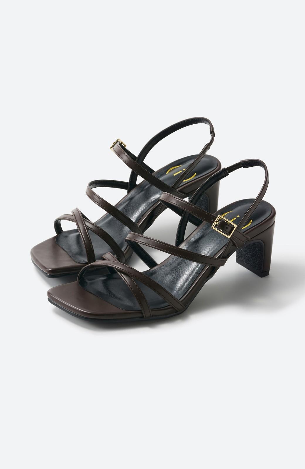 haco! 玄関でこれを履くだけでコーデが女っぽく&今っぽくまとまる 華奢な紐のヒールサンダル <ブラウン>の商品写真13