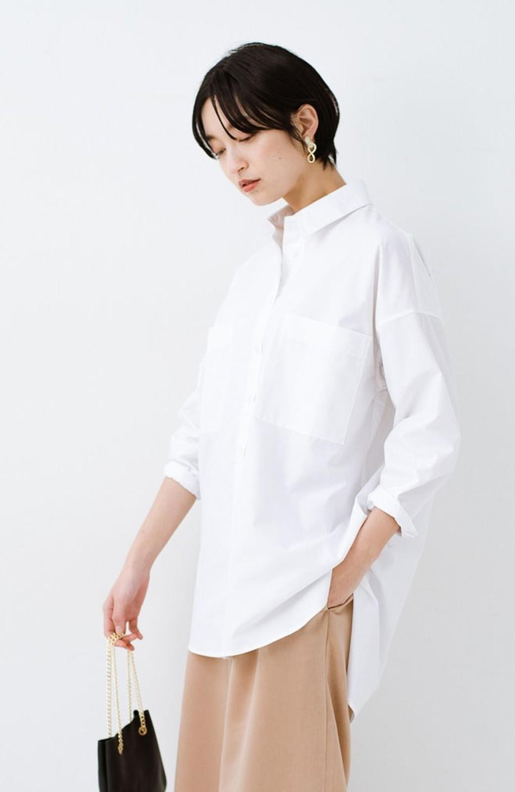 haco! サイズ感がオシャレに見せてくれる 真面目すぎないビッグシャツ <ホワイト>の商品写真1