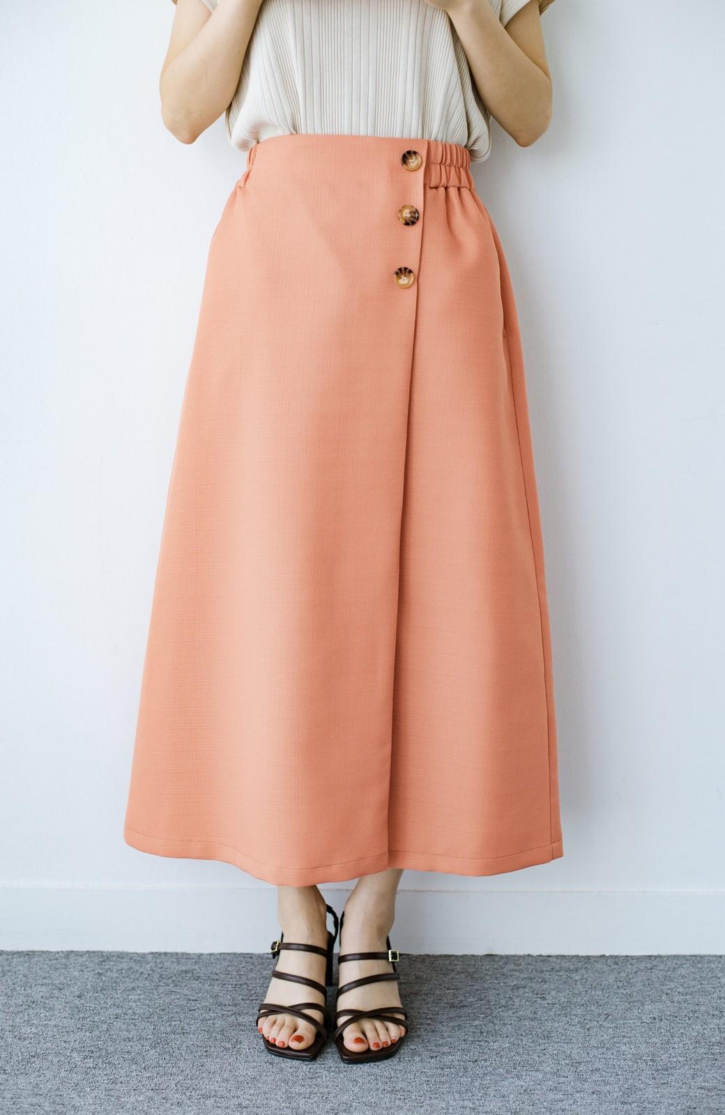 haco! これさえあればきれいなお姉さんになれそうな気がする 麻調素材のきれいめラップスカート <オレンジ>の商品写真1