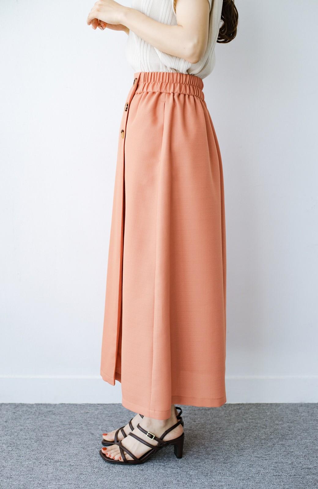 haco! これさえあればきれいなお姉さんになれそうな気がする 麻調素材のきれいめラップスカート <オレンジ>の商品写真6