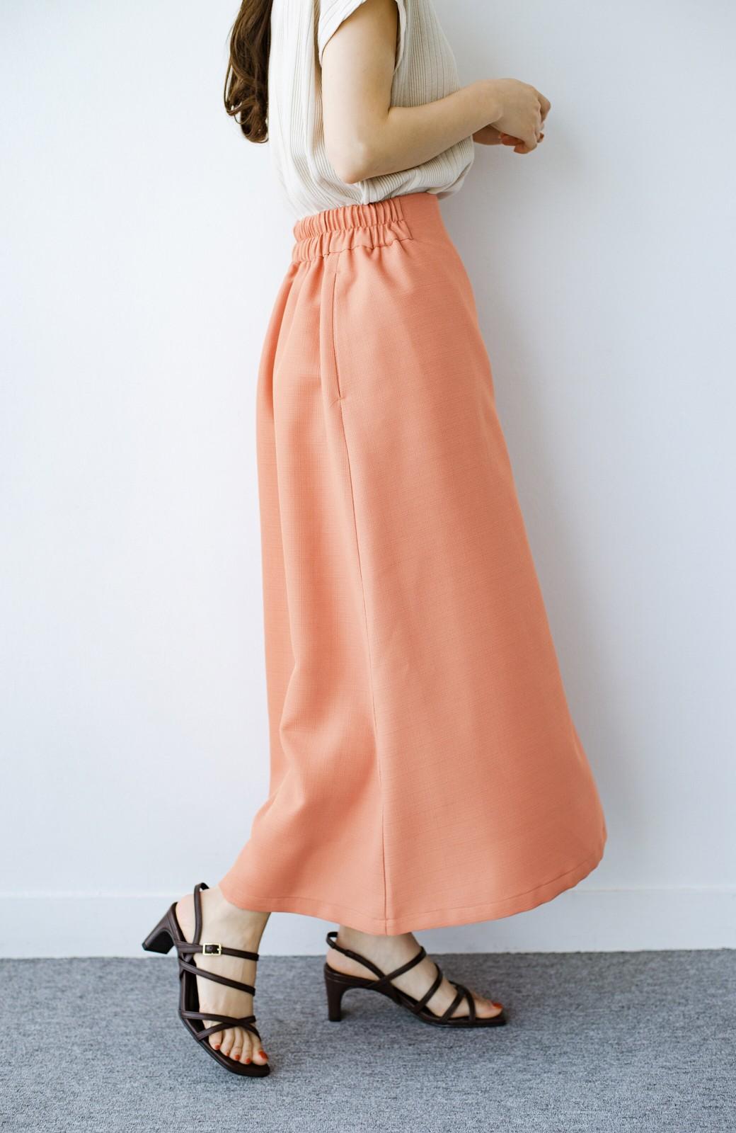 haco! これさえあればきれいなお姉さんになれそうな気がする 麻調素材のきれいめラップスカート <オレンジ>の商品写真7