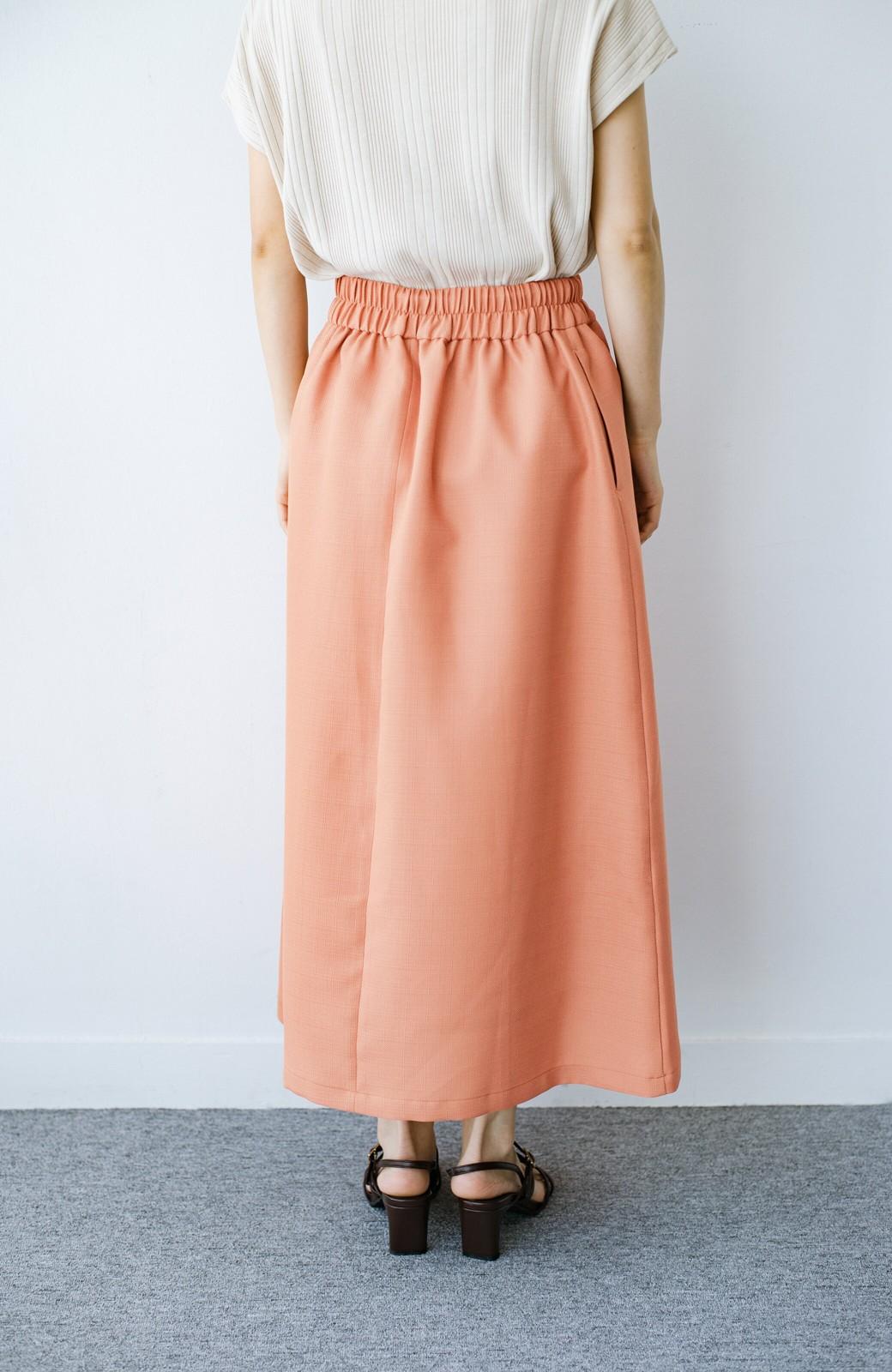 haco! これさえあればきれいなお姉さんになれそうな気がする 麻調素材のきれいめラップスカート <オレンジ>の商品写真8