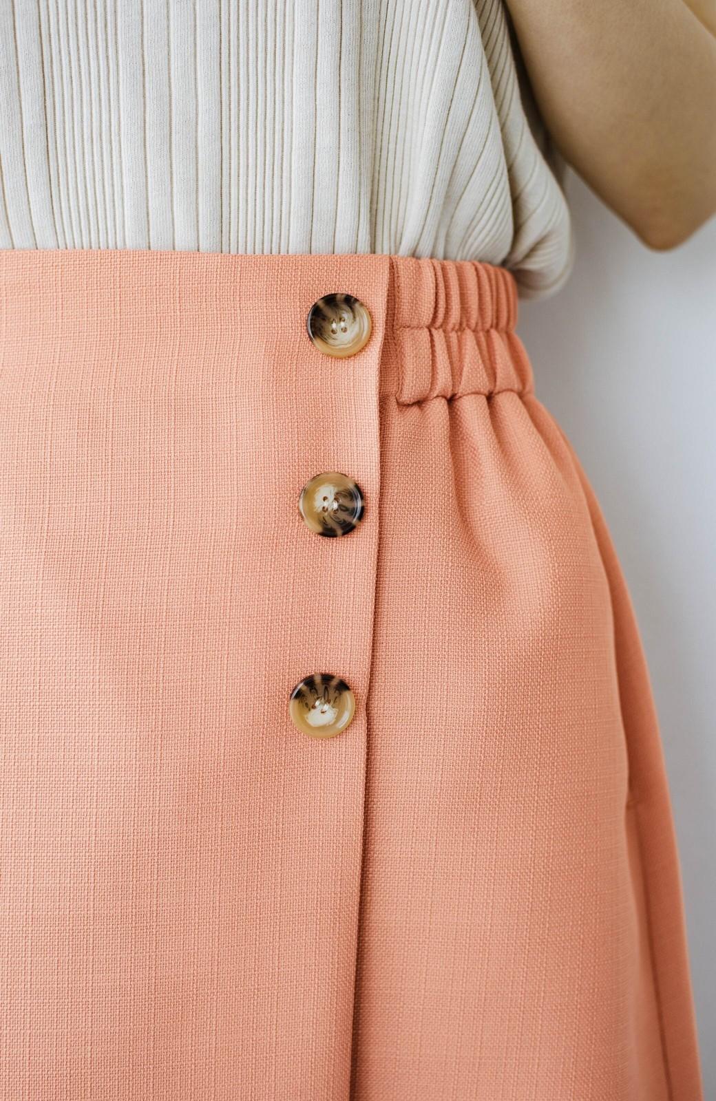 haco! これさえあればきれいなお姉さんになれそうな気がする 麻調素材のきれいめラップスカート <オレンジ>の商品写真10