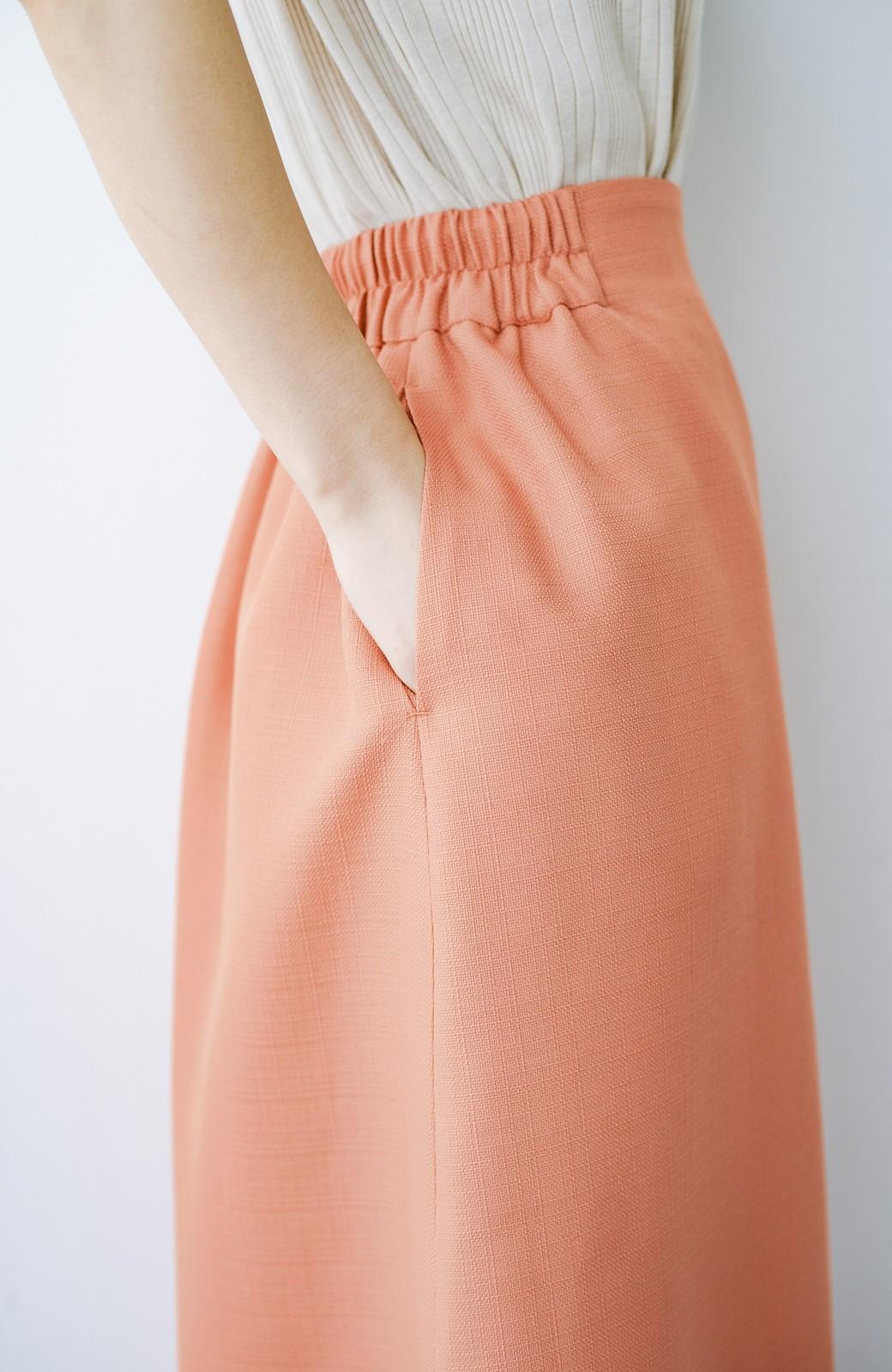 haco! これさえあればきれいなお姉さんになれそうな気がする 麻調素材のきれいめラップスカート <オレンジ>の商品写真11