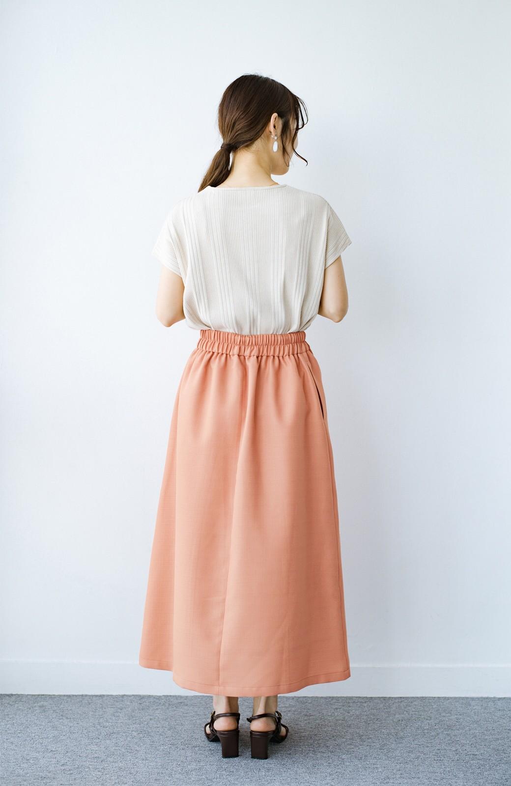 haco! これさえあればきれいなお姉さんになれそうな気がする 麻調素材のきれいめラップスカート <オレンジ>の商品写真16