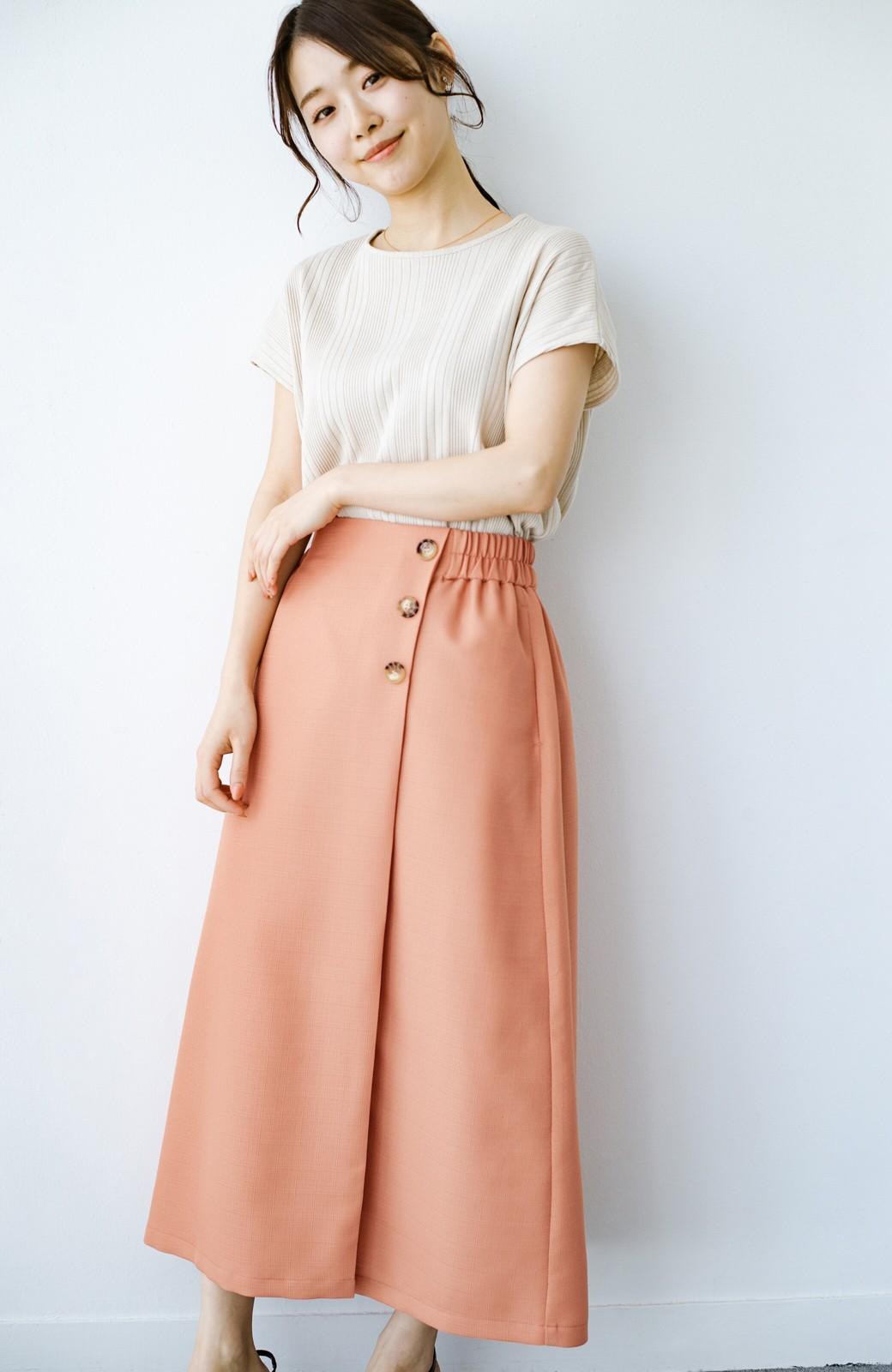 haco! これさえあればきれいなお姉さんになれそうな気がする 麻調素材のきれいめラップスカート <オレンジ>の商品写真17