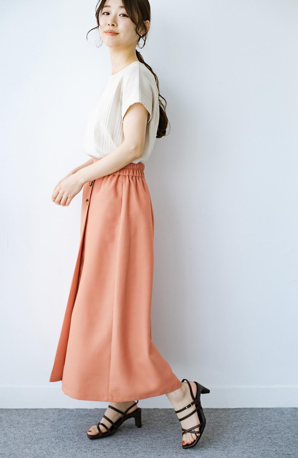 haco! これさえあればきれいなお姉さんになれそうな気がする 麻調素材のきれいめラップスカート <オレンジ>の商品写真9