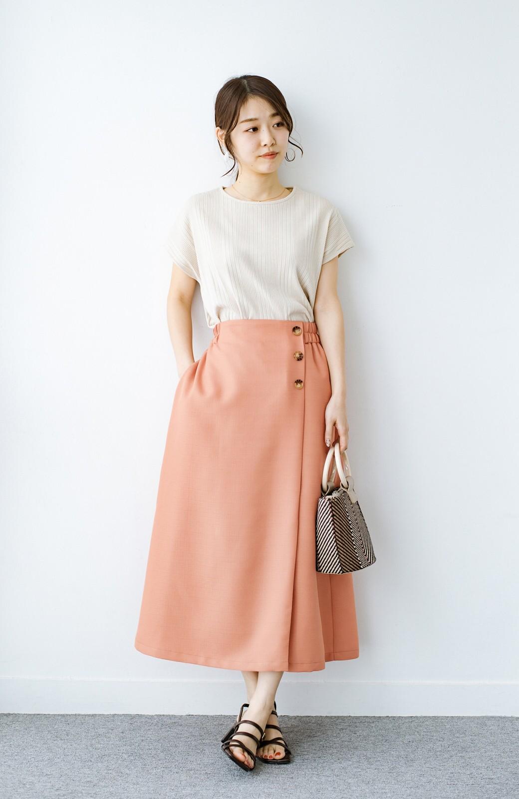 haco! これさえあればきれいなお姉さんになれそうな気がする 麻調素材のきれいめラップスカート <オレンジ>の商品写真12
