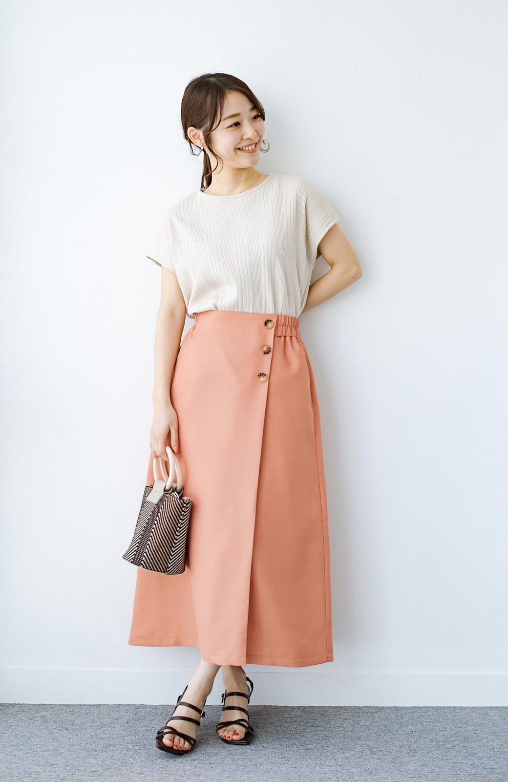 haco! これさえあればきれいなお姉さんになれそうな気がする 麻調素材のきれいめラップスカート <オレンジ>の商品写真13