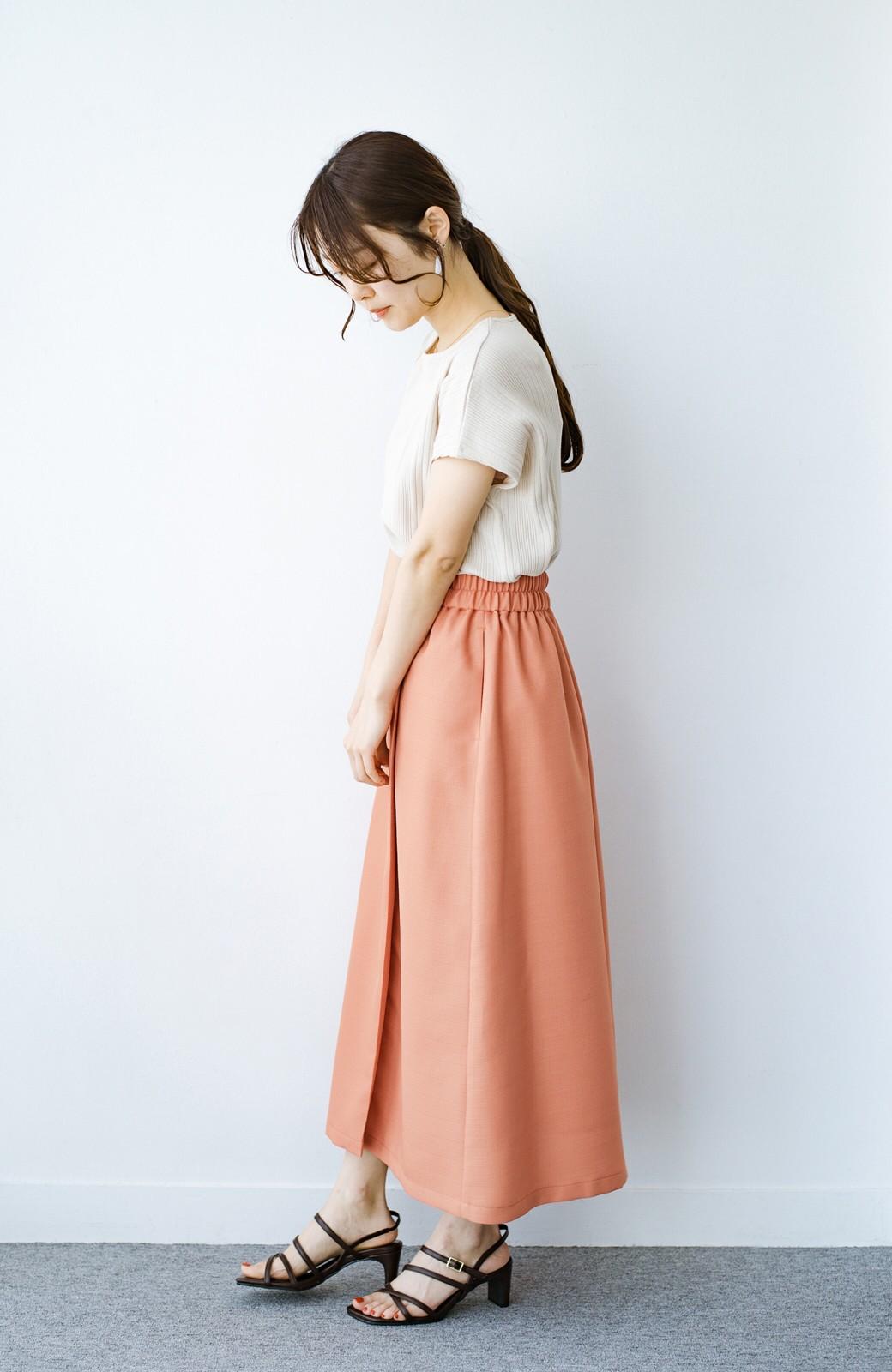 haco! これさえあればきれいなお姉さんになれそうな気がする 麻調素材のきれいめラップスカート <オレンジ>の商品写真14
