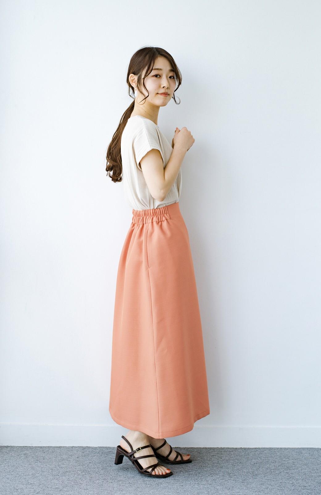 haco! これさえあればきれいなお姉さんになれそうな気がする 麻調素材のきれいめラップスカート <オレンジ>の商品写真15