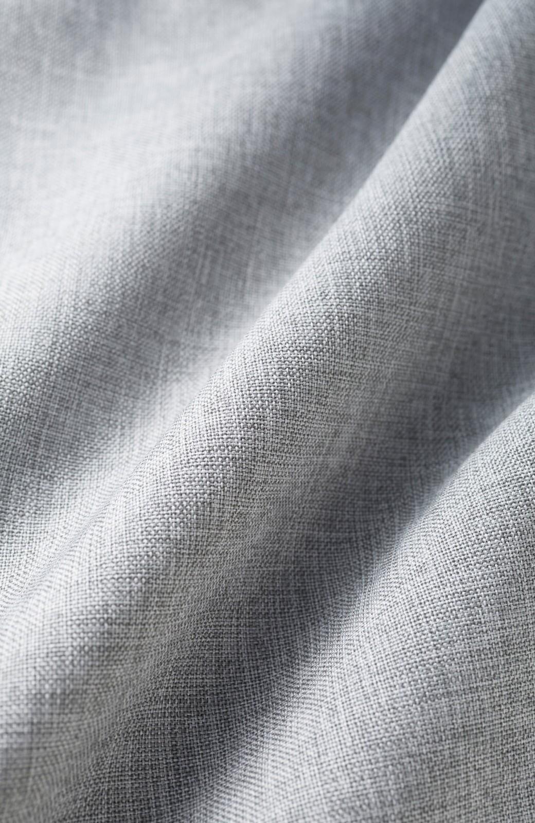 haco! パンツ派だけどきれいでいたい!を叶えてくれる 麻風素材のラップデザインパンツ <ライトグレー>の商品写真3