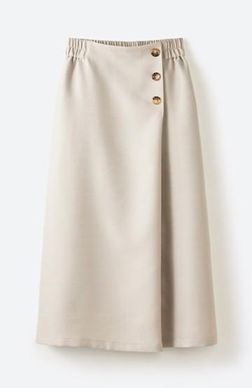 haco! これさえあればきれいなお姉さんになれそうな気がする 麻調素材のきれいめラップスカート <ベージュ>の商品写真