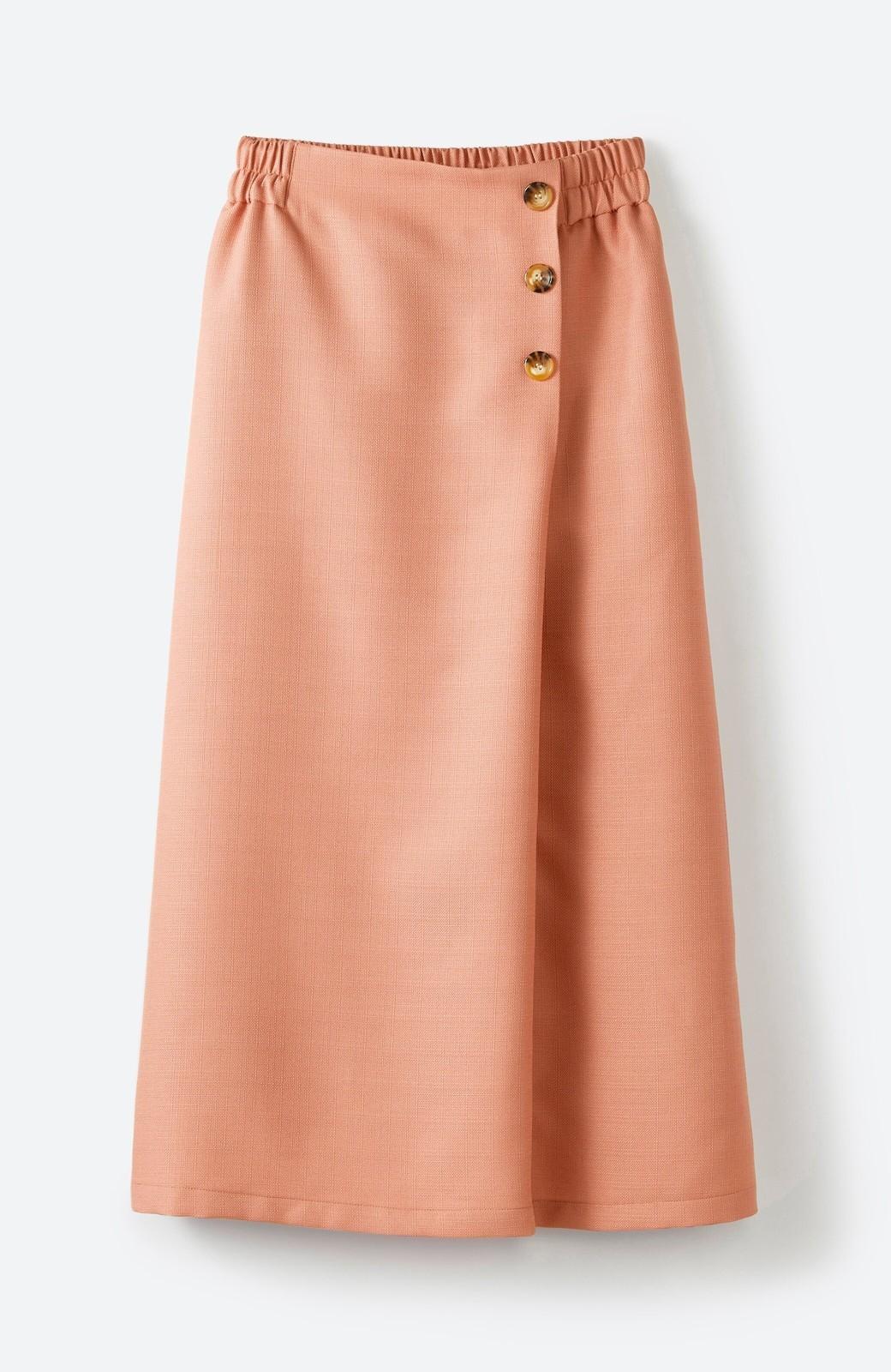 haco! これさえあればきれいなお姉さんになれそうな気がする 麻調素材のきれいめラップスカート <オレンジ>の商品写真4