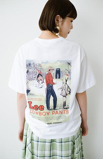 haco! LadyLee ちょっぴりレトロなバックプリントTシャツ <ホワイト>の商品写真