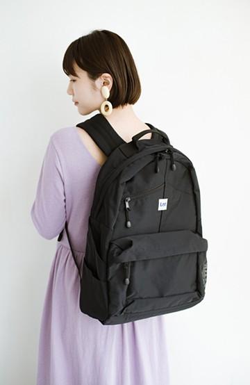 haco! LadyLee ポケットがかわいいオーバーオールバックパック <ブラック>の商品写真