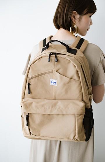 haco! LadyLee ポケットがかわいいオーバーオールバックパック <ベージュ>の商品写真