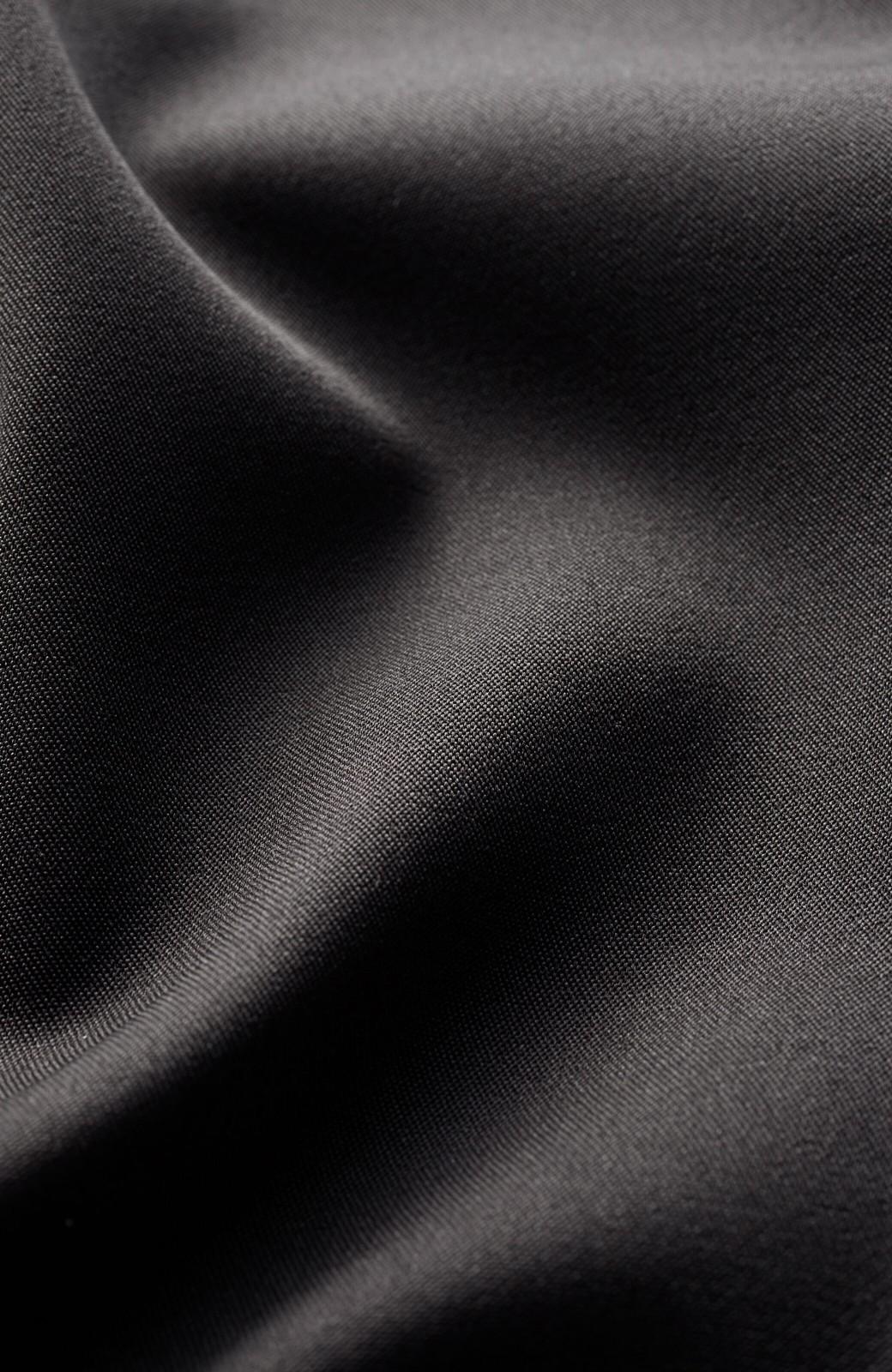 haco! きちんとしなきゃいけないけど可愛くいたいときに便利な とろみ素材の開衿ワンピース <ブラック>の商品写真7