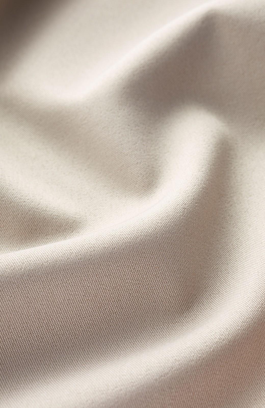 haco! きちんとしなきゃいけないけど可愛くいたいときに便利な とろみ素材の開衿ワンピース <ベージュ>の商品写真3