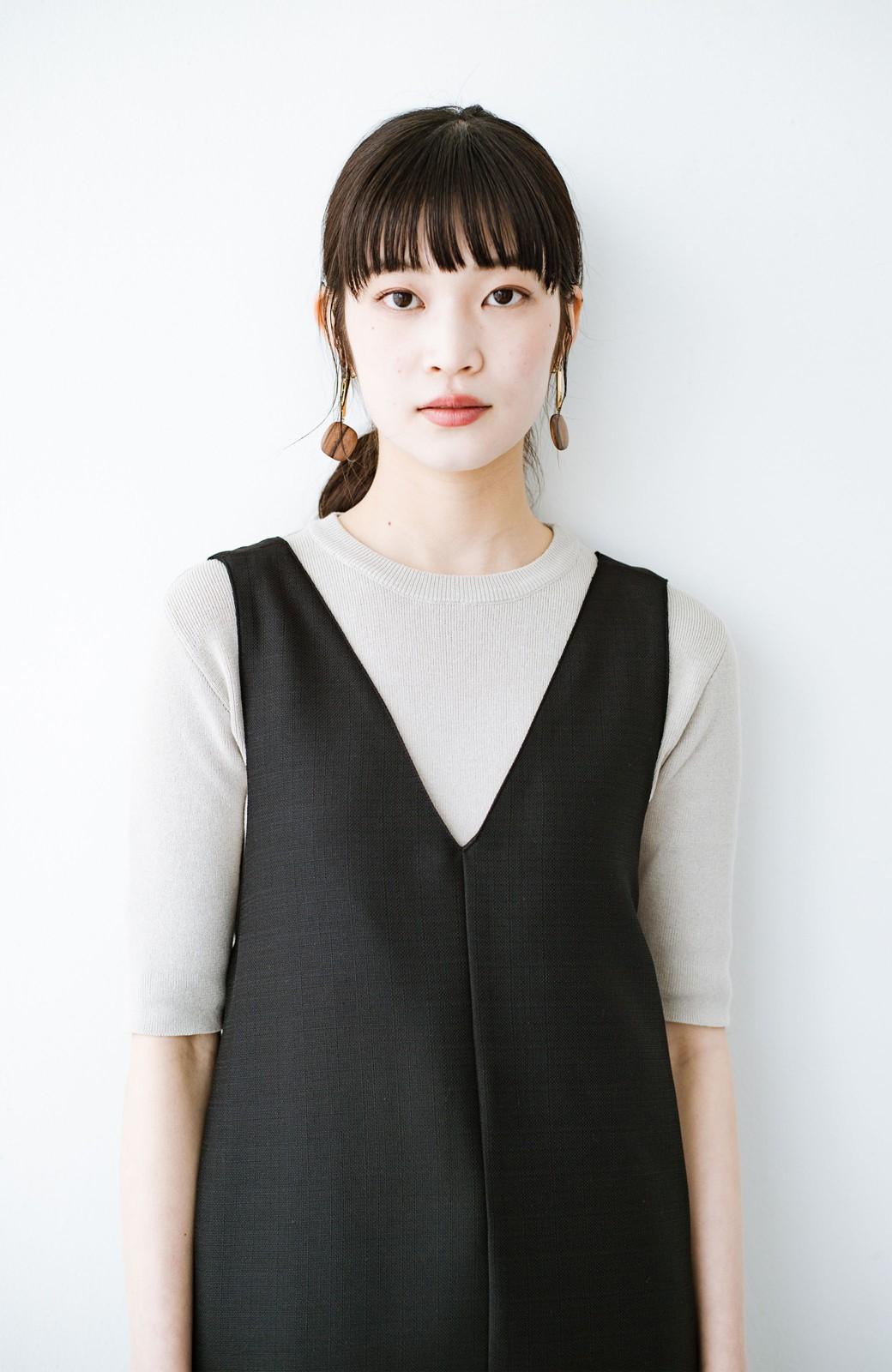 haco! 何てことないTシャツと重ねるだけでパッとかわいくなれる 魔法のようなジャンパースカート <ブラック>の商品写真4