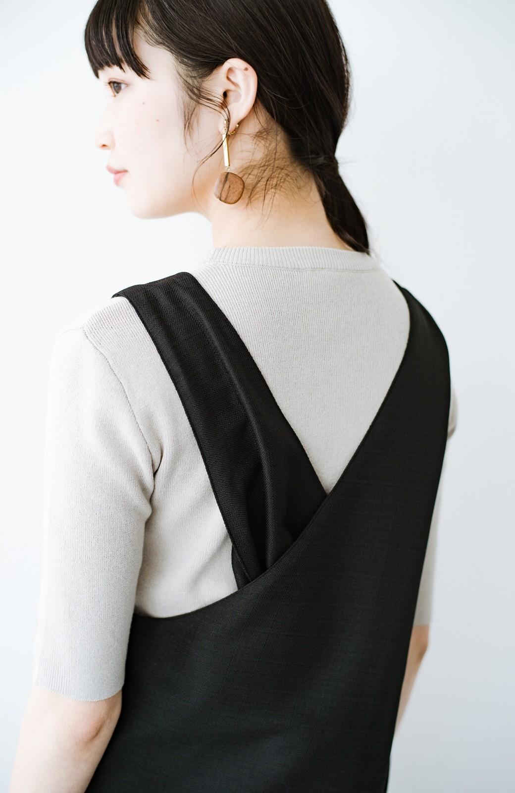 haco! 何てことないTシャツと重ねるだけでパッとかわいくなれる 魔法のようなジャンパースカート <ブラック>の商品写真5