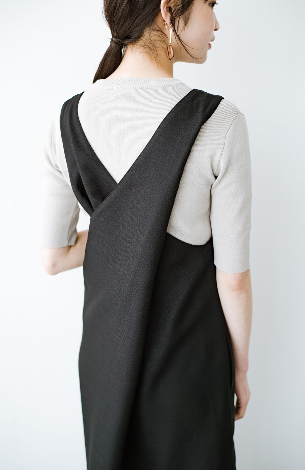 haco! 何てことないTシャツと重ねるだけでパッとかわいくなれる 魔法のようなジャンパースカート <ブラック>の商品写真6