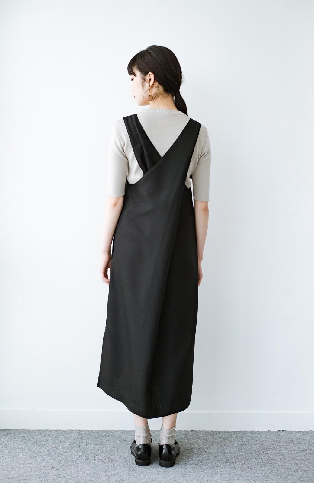 haco! 何てことないTシャツと重ねるだけでパッとかわいくなれる 魔法のようなジャンパースカート <ブラック>の商品写真12