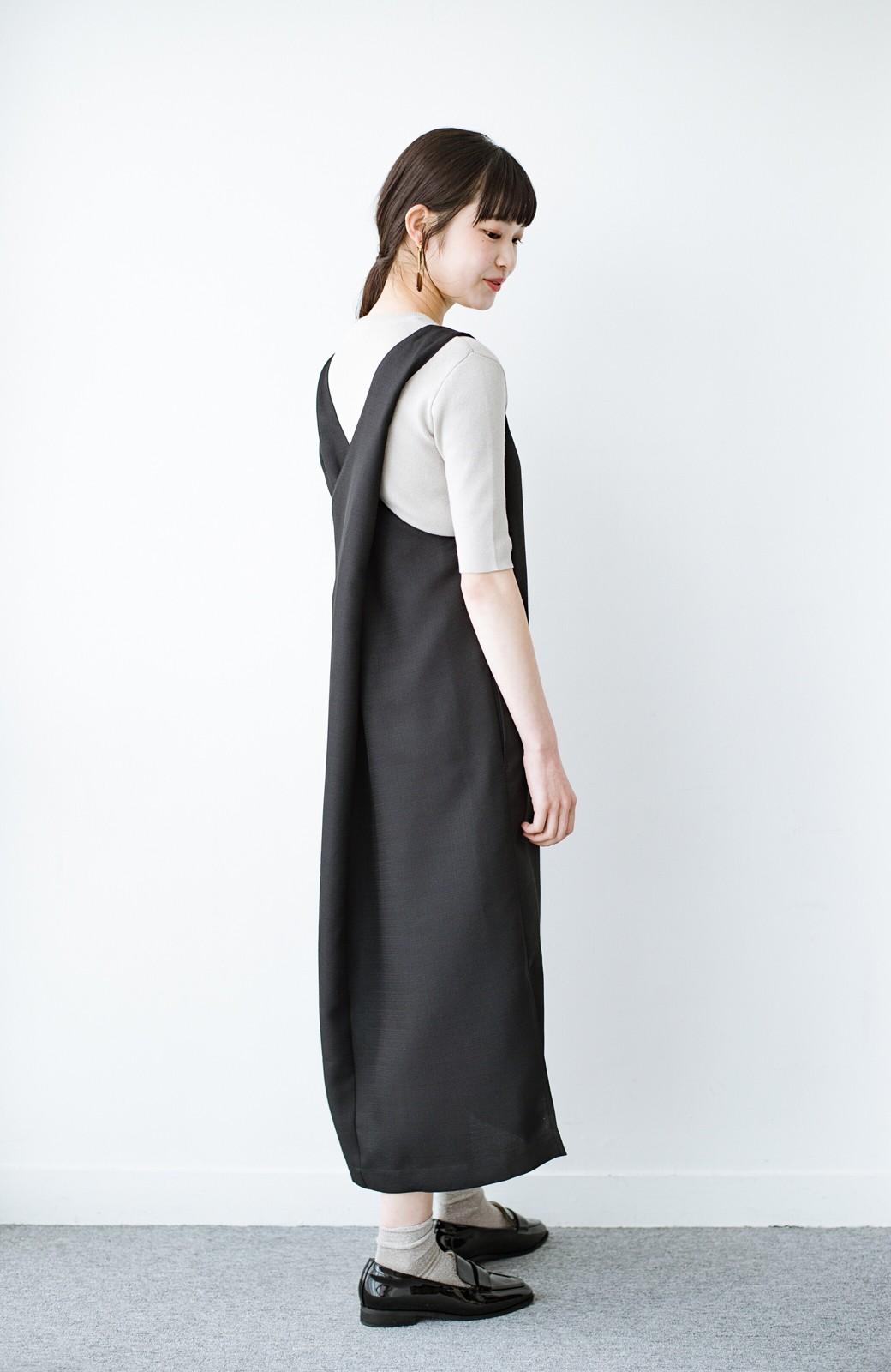 haco! 何てことないTシャツと重ねるだけでパッとかわいくなれる 魔法のようなジャンパースカート <ブラック>の商品写真13