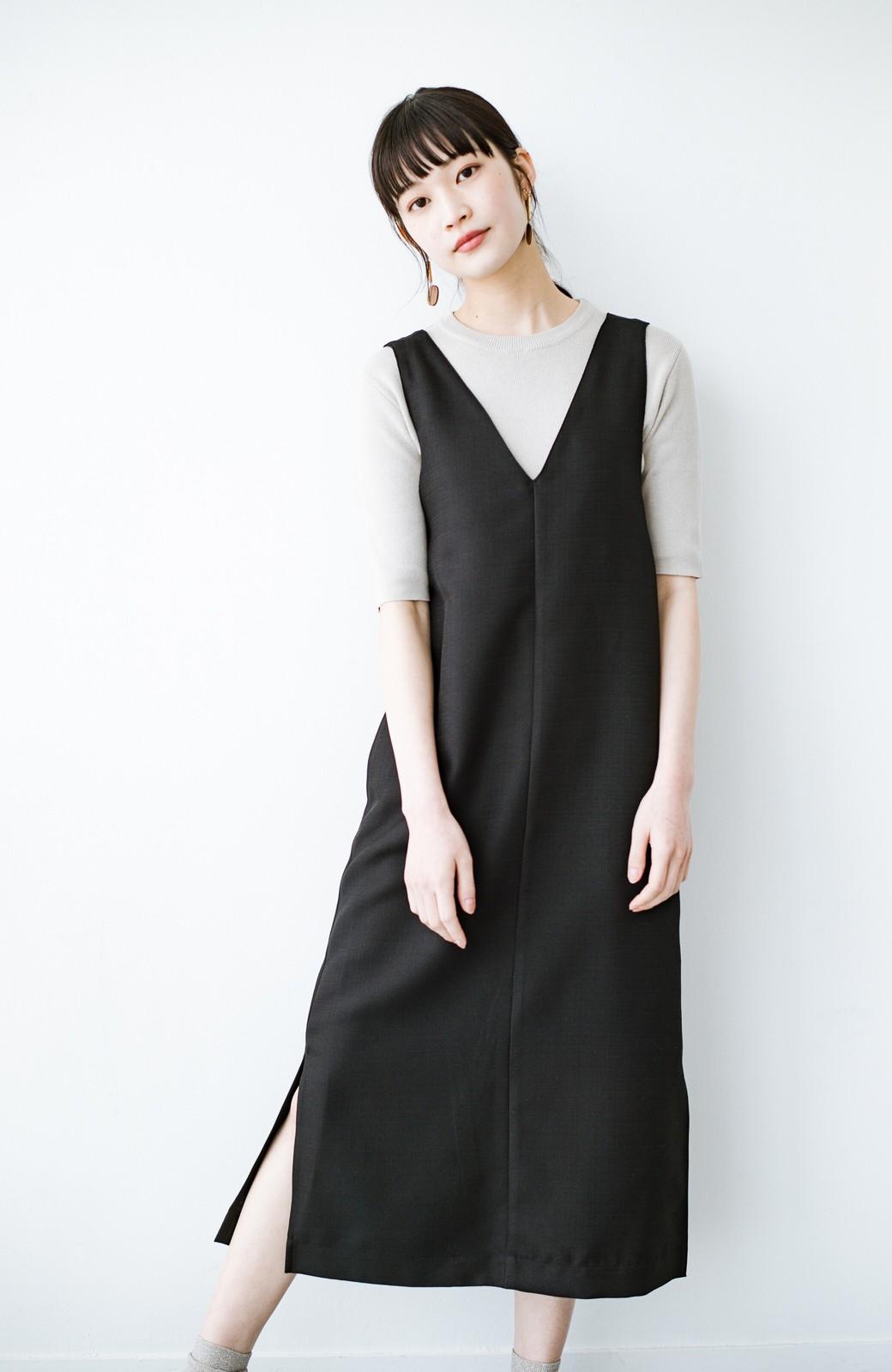 haco! 何てことないTシャツと重ねるだけでパッとかわいくなれる 魔法のようなジャンパースカート <ブラック>の商品写真14
