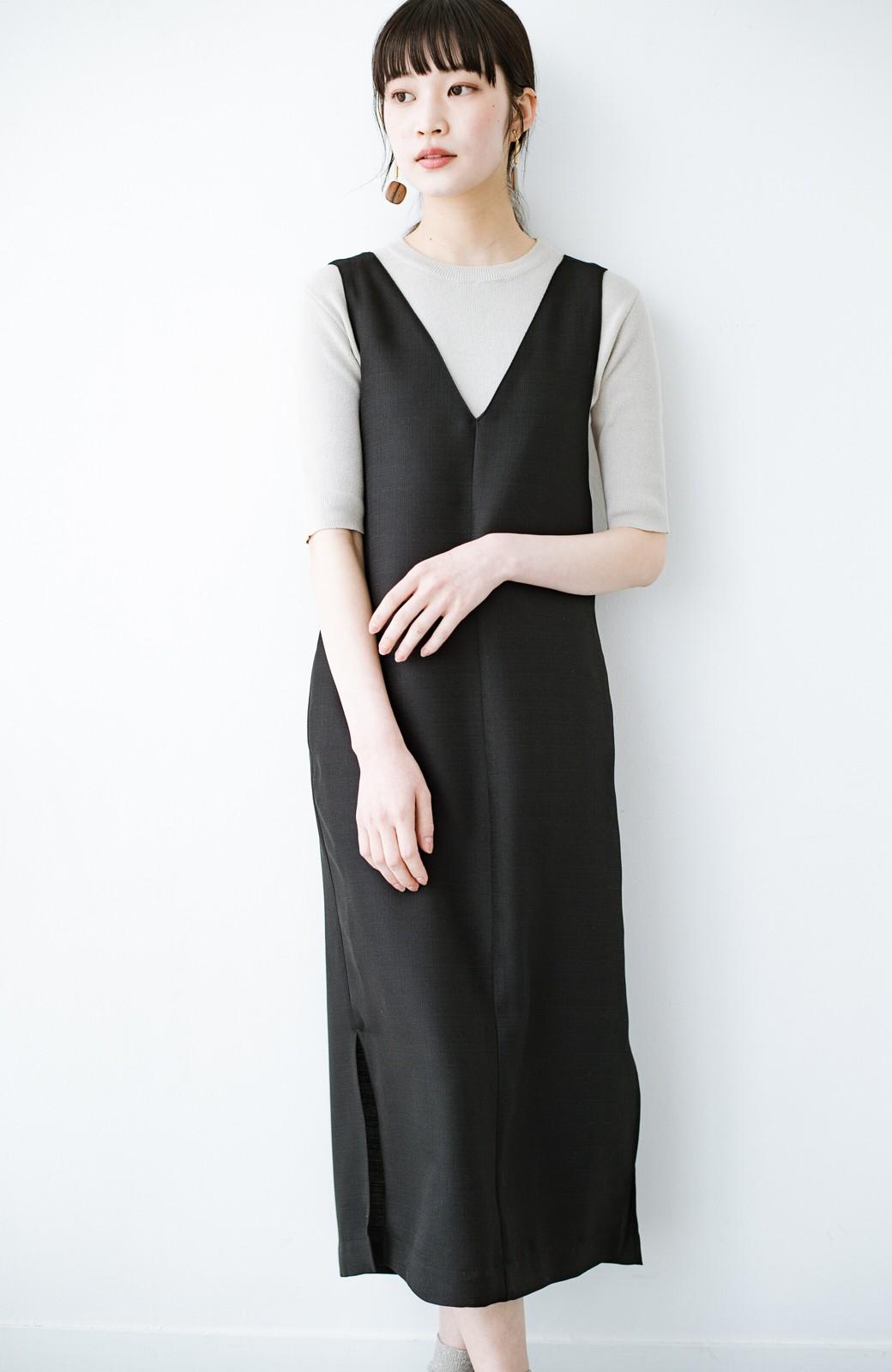 haco! 何てことないTシャツと重ねるだけでパッとかわいくなれる 魔法のようなジャンパースカート <ブラック>の商品写真1