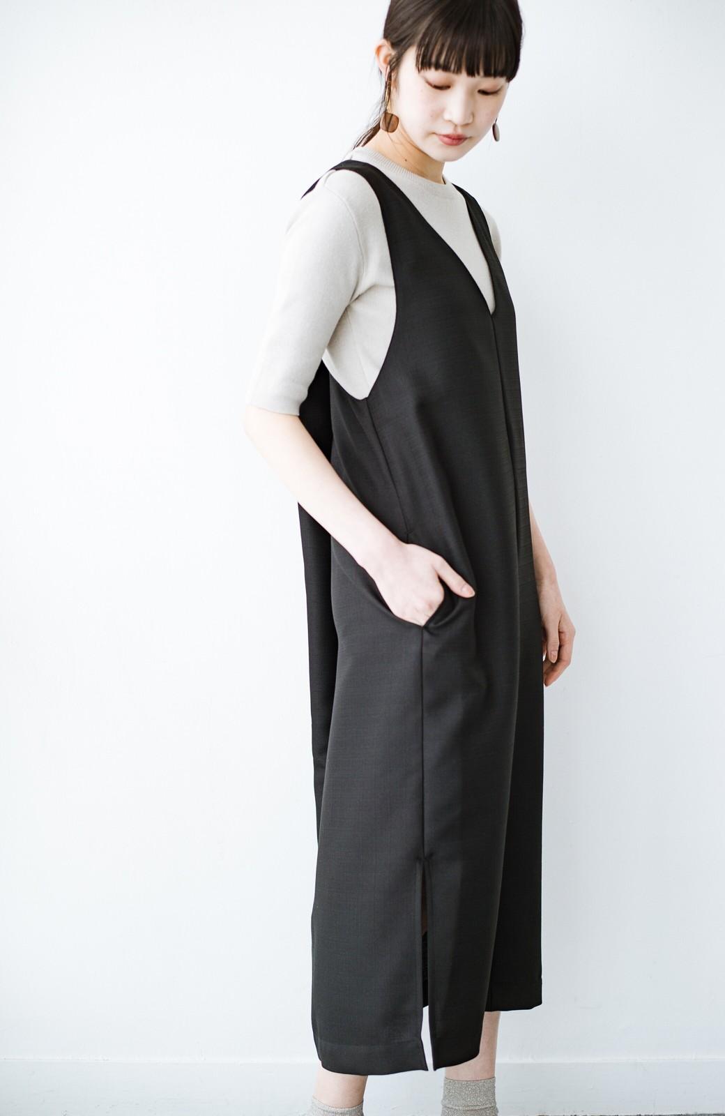 haco! 何てことないTシャツと重ねるだけでパッとかわいくなれる 魔法のようなジャンパースカート <ブラック>の商品写真15