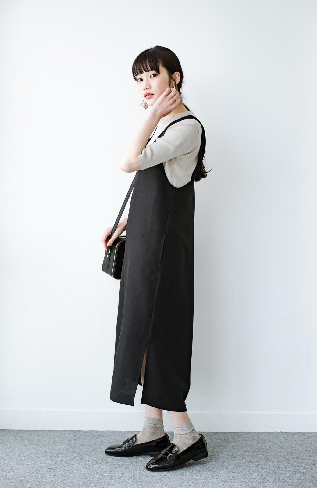 haco! 何てことないTシャツと重ねるだけでパッとかわいくなれる 魔法のようなジャンパースカート <ブラック>の商品写真11