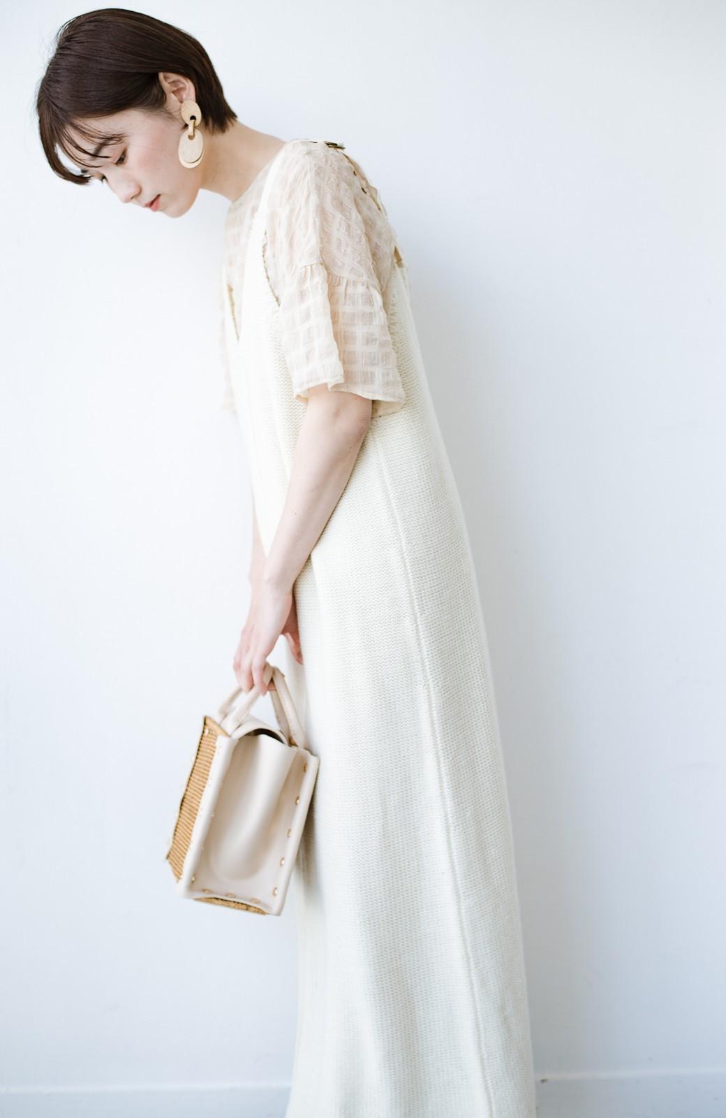 haco! 【高橋愛さんコラボ】ニットジャンパースカートとロングTシャツセット by LOVE&PEACE PROJECT <アイボリー>の商品写真22