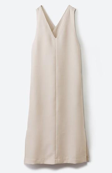 haco! 何てことないTシャツと重ねるだけでパッとかわいくなれる 魔法のようなジャンパースカート <ベージュ>の商品写真