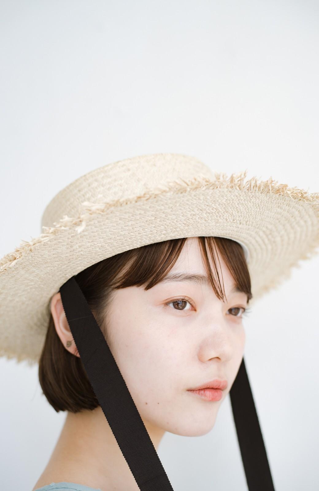 haco! odds 長めリボンがかわいい大人のカンカン帽 <ナチュラル>の商品写真5