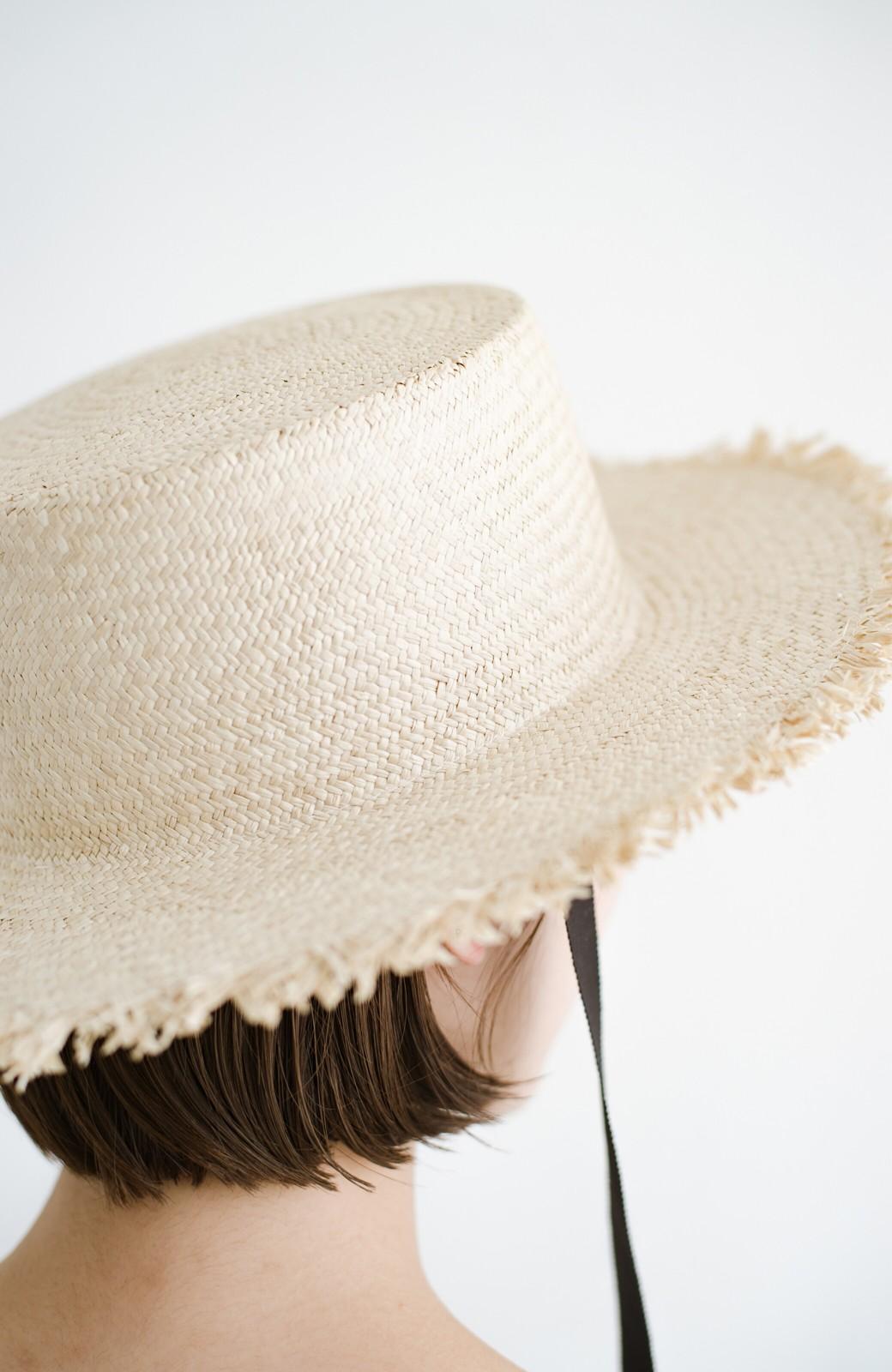 haco! odds 長めリボンがかわいい大人のカンカン帽 <ナチュラル>の商品写真6