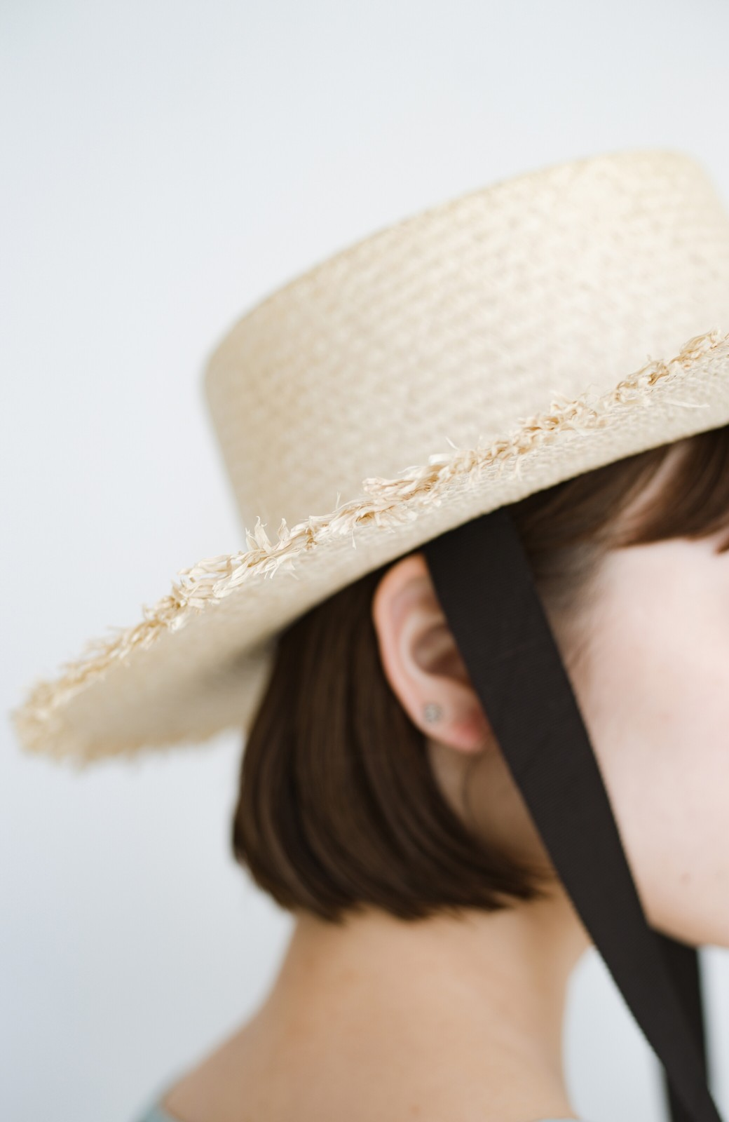 haco! odds 長めリボンがかわいい大人のカンカン帽 <ナチュラル>の商品写真7