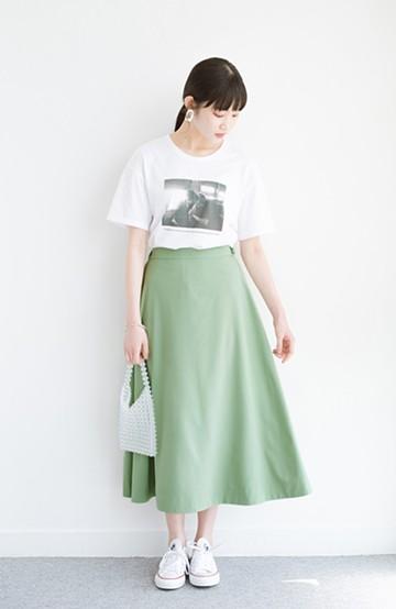 haco! オフィスにもデートにも! 便利なのはきれいに見えて楽ちんなリバーシブルスカート <グリーン系その他>の商品写真