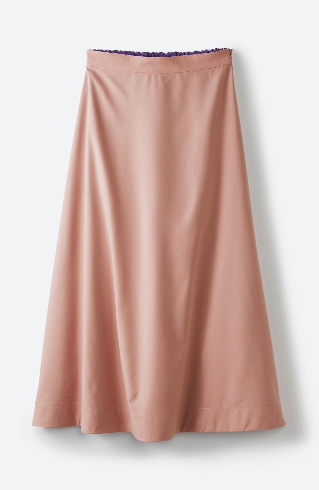 haco! オフィスにもデートにも! 便利なのはきれいに見えて楽ちんなリバーシブルスカート <ピンク系その他>の商品写真4