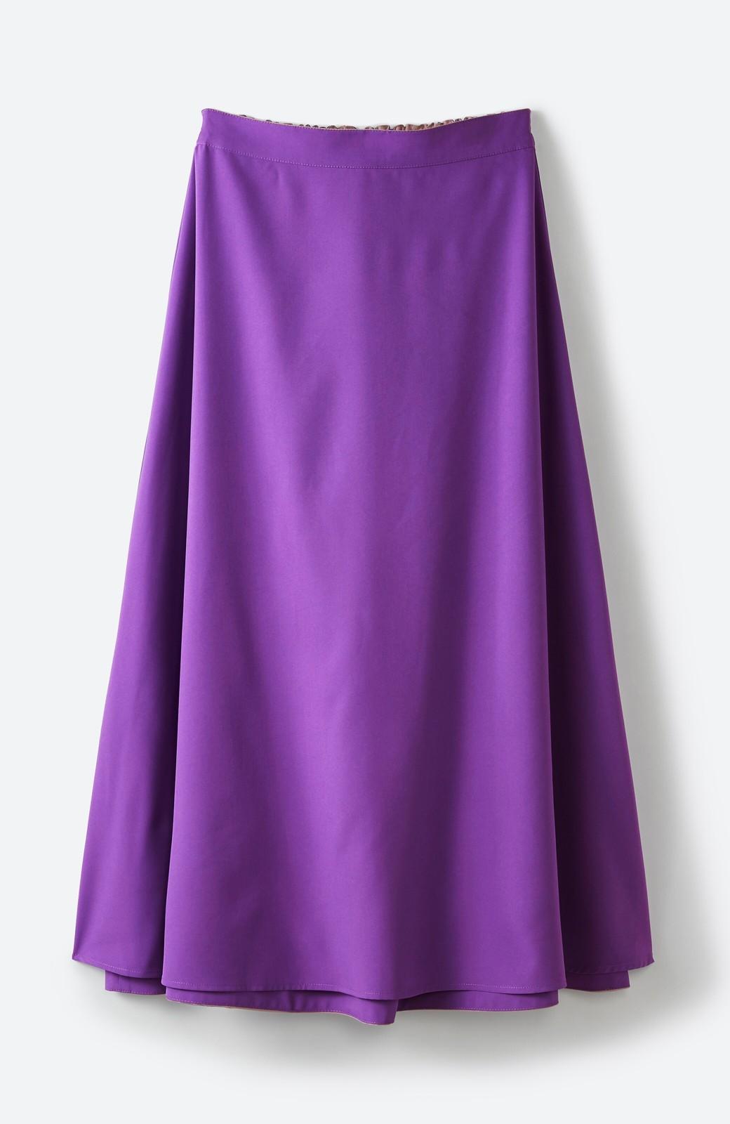 haco! オフィスにもデートにも! 便利なのはきれいに見えて楽ちんなリバーシブルスカート <ピンク系その他>の商品写真6